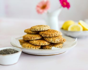Lemon and Chia Biscuits Home Recipe - The Food Medic