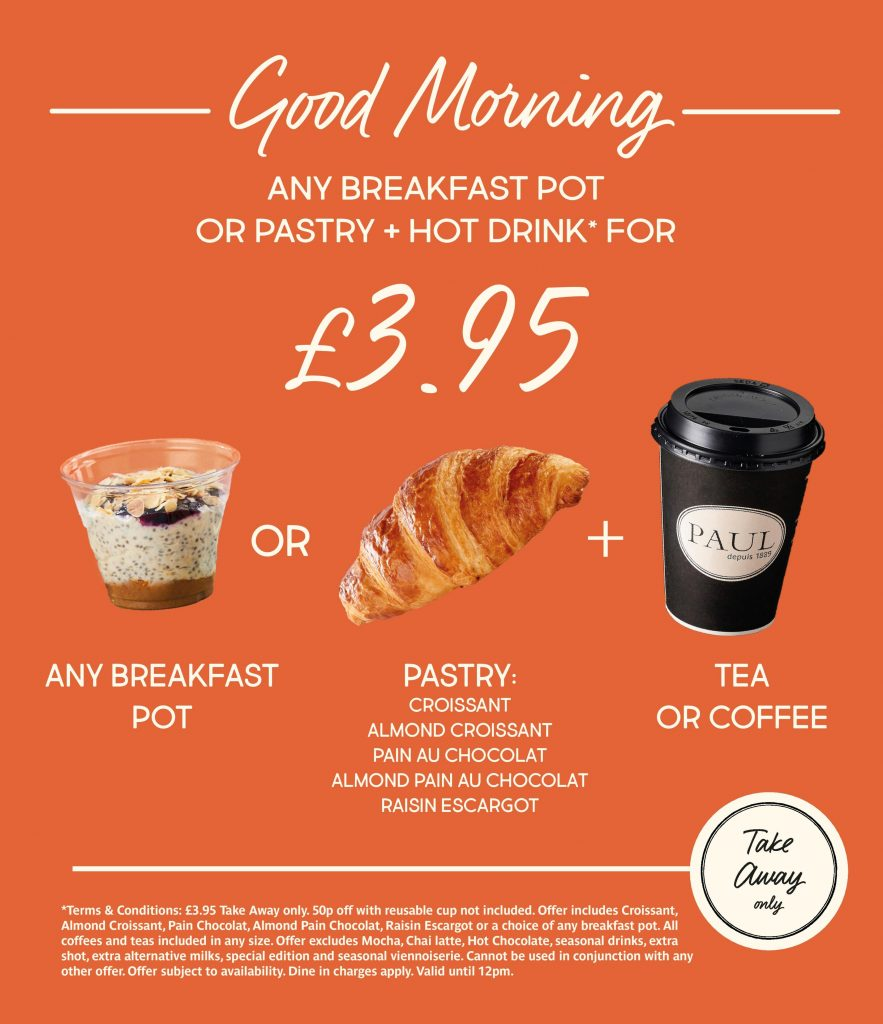 Breakfast Deal at PAUL UK